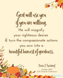 Thanksgiving Quotes Lds Free General Conference Printables October 2017