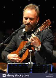 Bands In Baden British Singer Sting Plays The Lute During His Concert At The