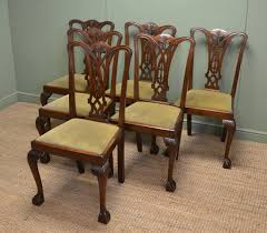 set of six chippendale design antique dining chairs antiques world