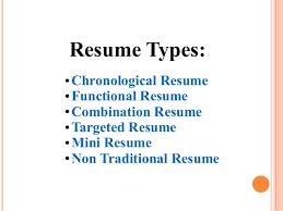 Sample Targeted Resume by Resume Types Resume Cv Cover Letter