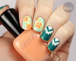 packapunchpolish aztec and floral nail art with video tutorial