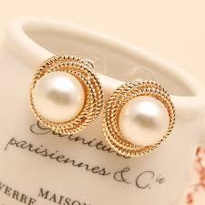 pearl earrings stud fashion seashell rea big pearl earrings stud high quality