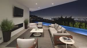 cute outdoor room with wall mount tv over fireplace idea also
