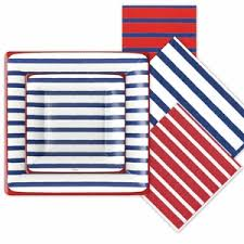 nautical paper plates and napkins fourth of july