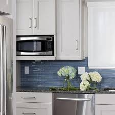 blue kitchen tile backsplash linear blue glass tile backsplash design ideas