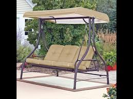 Mainstays Patio Furniture by Mainstays Patio Swing Cushion Replacement Youtube