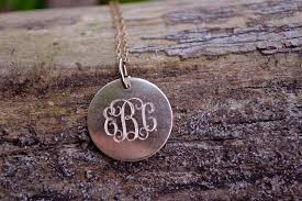monogrammed pendant necklace monogram pendant necklace