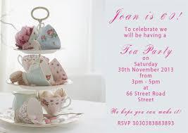 cake stand afternoon tea birthday invitations