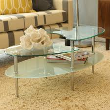 Glass Oval Coffee Table by Oval Glass Coffee Tables With Storage Worldtipitakaorg Jericho