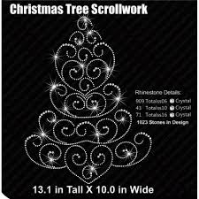 tree scrollwork rhinestone download eps svg