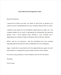 retirement resignation letter 10 retirement letter templates free