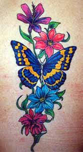designs tattoo galleries butterfly with flowers design