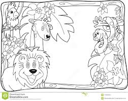 100 jungle animals coloring pages for toddlers happy little