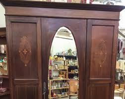 Cedar Wardrobe Armoire Antique Armoire Etsy