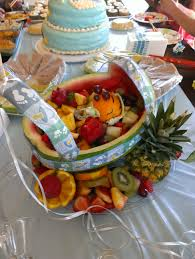 baby shower watermelon fruit carriage lady kabobs