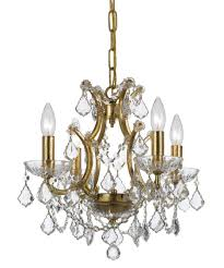 Crystal And Gold Chandelier Crystorama 4454 Filmore 18 Inch Wide 4 Light Mini Chandelier