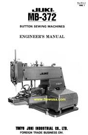 juki mb 372 service manual