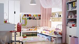 Ikea Modern Bedroom White Beautiful White And Red Ikea Kids Room Design That Can Be Decor
