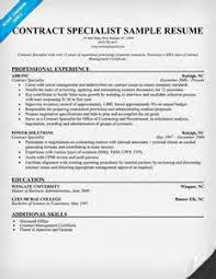 Federal Contract Specialist Resume Sample Contract Specialist Resume Telecommunications Specialist