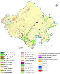 Map Types Mapping The Vegetation Types Of Rajasthan India Using Remote