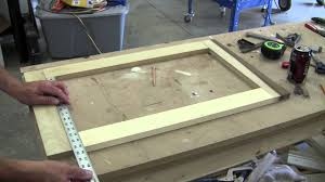 how to build a wood cabinet with doors how to build a recessed cabinet pt 1 youtube