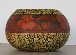 egg shell mosaic gourd bowl debramaerz