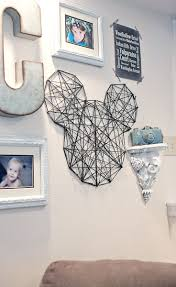 best 25 disney wall art ideas on pinterest disney decals how to make string mickey wall art