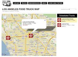 Los Angeles Street Cleaning Map by Food Truck Maps U2013 Not A New Idea U2013 Food Truck Talk U2013 Searching