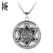 leather necklace wholesale images Wholesale supernatural pentacle six pointed star pendant men jpg