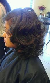 Roller Set Hairstyles Curly Relaxed Extensions Board Hair Pinterest Roller