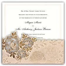 Pocket Wedding Invitations Shiny Blush Diecut Rose Pocket Wedding Invitations Paperstyle