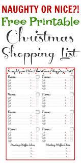 christmas shopping list free printable christmas shopping list theprojectpile