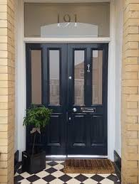 front door painted in farrow u0026 ball down pipe porch pinterest