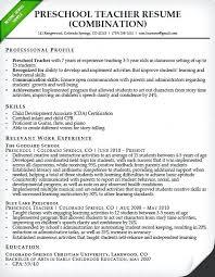 Sample Teacher Resume Indian Schools Sample Resume For Primary Teacher Preschool Teacher Resume