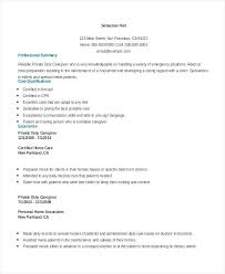Caregiver Objective Resume Caregiver Resume Sample Objective U2013 Inssite