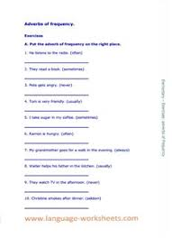 adverbs of frequency language worksheets by johann w