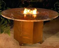 Custom Gas Fire Pits - dining table dining table with gas fire pit outdoor round la