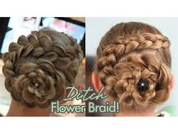 cute girl hairstyles how to french braid dutch flower braid updos cute girls hairstyles youtube