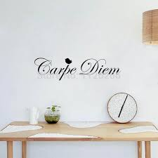 stikers chambre amovible vinyle stickers muraux citations carpe diem décoratif