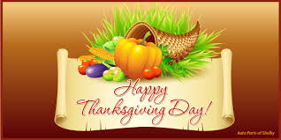and a happy thanksgiving to you auto parts of shelbyauto