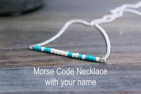 morse code necklace personalized name necklace silver name morse code necklace custom name necklace
