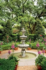 classic courtyards southern living english courtyard fountain