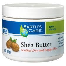 shea butter 100 pure u0026 natural earth u0027s care 6 oz butter walmart com