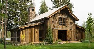 Barn Style Houses Montana Mountain Barn Retreat