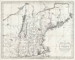 Map Of New England by Map Of The Northern Or New England States Of America