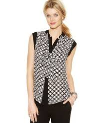 michael kors blouses michael michael kors sleeve dot print blouse s brands