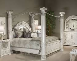 Four Poster Bedroom Sets Aico Poster Bedroom Set Monte Carlo Ii In Silver Pearl Ai N530 03