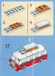 lego mini cooper polybag lego mini vw t1 camper van instructions 40079 modular brick
