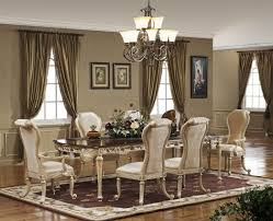 curtains for dining room ideas wooden floor modern rug chandelier