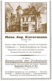 Volksbank Bad Rothenfelde Reklame Historische Schaufenster Bad Rothenfelde